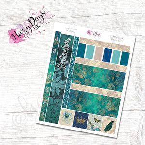 Pretty as a Peacock - Monthly Hobonichi Weeks Sticker Kit