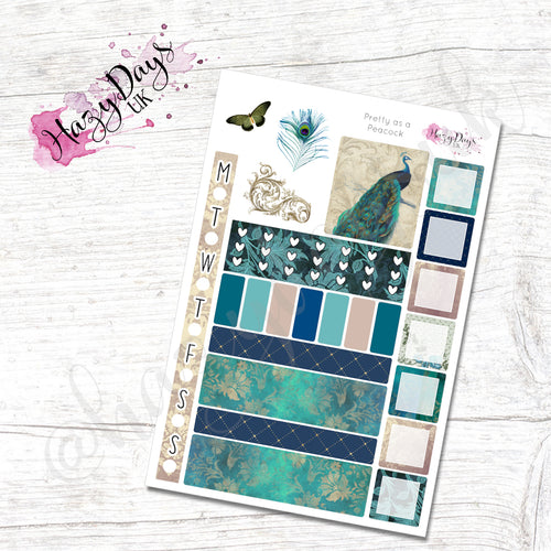 Pretty as a Peacock - Weekly Hobonichi Weeks Sticker Kit