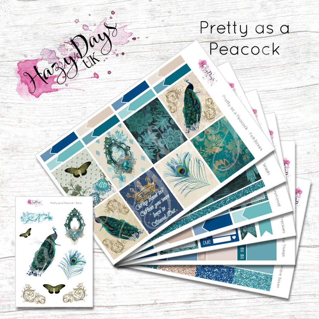 Pretty as a Peacock - Weekly Sticker Kit