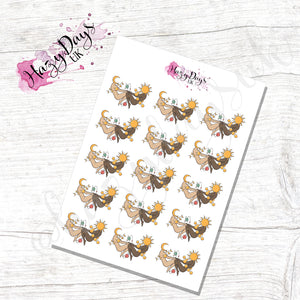 Sun & Moon Goddess Stickers - Icon Planner Stickers
