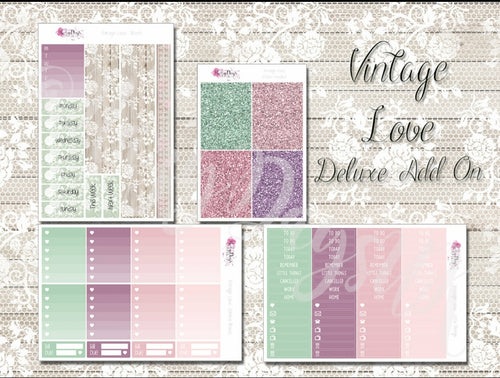 Vintage Love - Weekly Sticker Kit