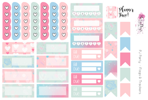 PJ Party - Weekly Sticker Kit
