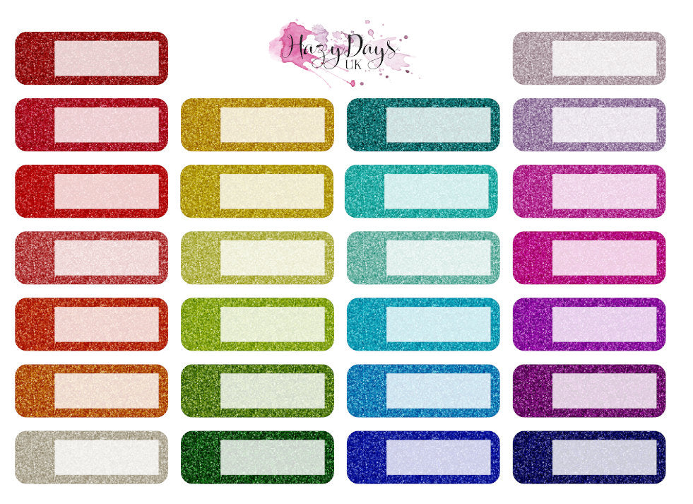 Glitter Effect Appointment Stickers