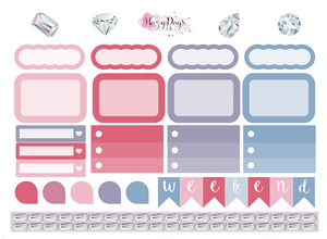 Precious Gems Pink - Weekly Mini Kit