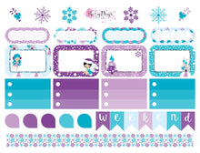 Load image into Gallery viewer, Winter Fairies - Weekly Mini Sticker Kit
