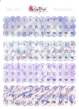 Load image into Gallery viewer, Date Dots - Lilac Watercolour Effect
