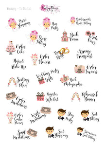 Wedding To Do List Engagement Planner Stickers