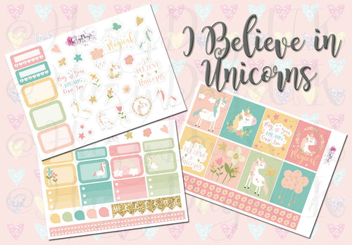 I Believe in Unicorns - Weekly Sticker Kit