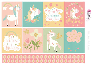 I Believe in Unicorns - Weekly ECLP Sticker Kit