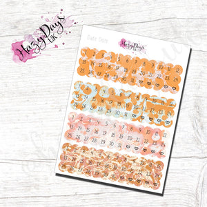 Date Dots - Orange Watercolour Effect