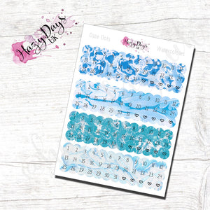 Date Dots - Blue Watercolour Effect