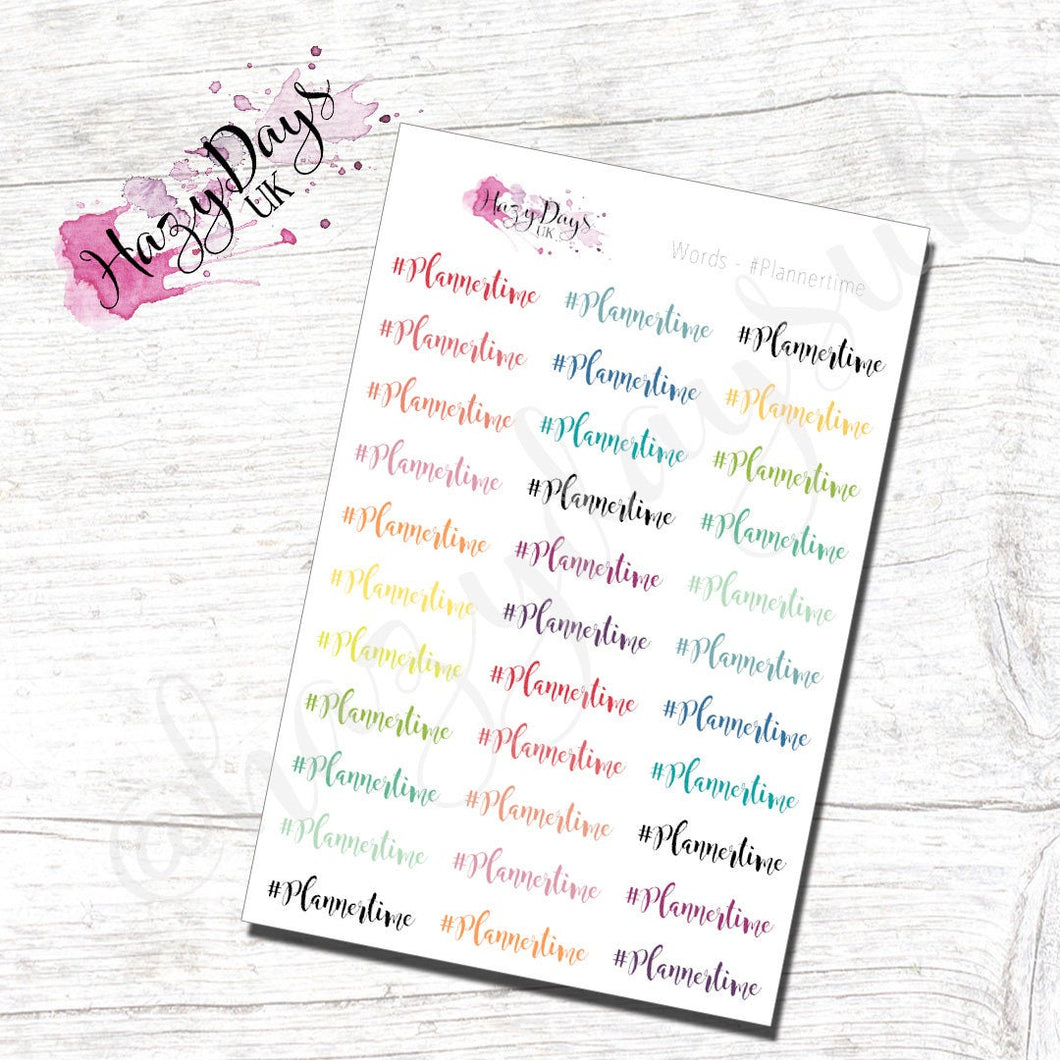 #plannertime Stickers
