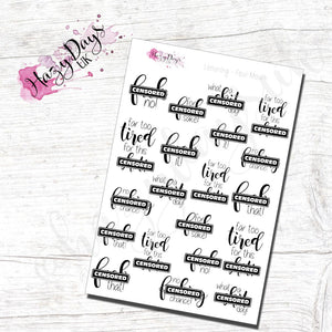 Foul Mouth - Lettering Planner Stickers  *WARNING OVER 18's*