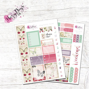 Vintage Butterfly - Personal Planner Sticker Kit