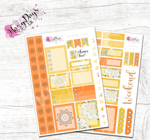 Geometric Mandala - Yellow - Personal Planner Sticker Kit