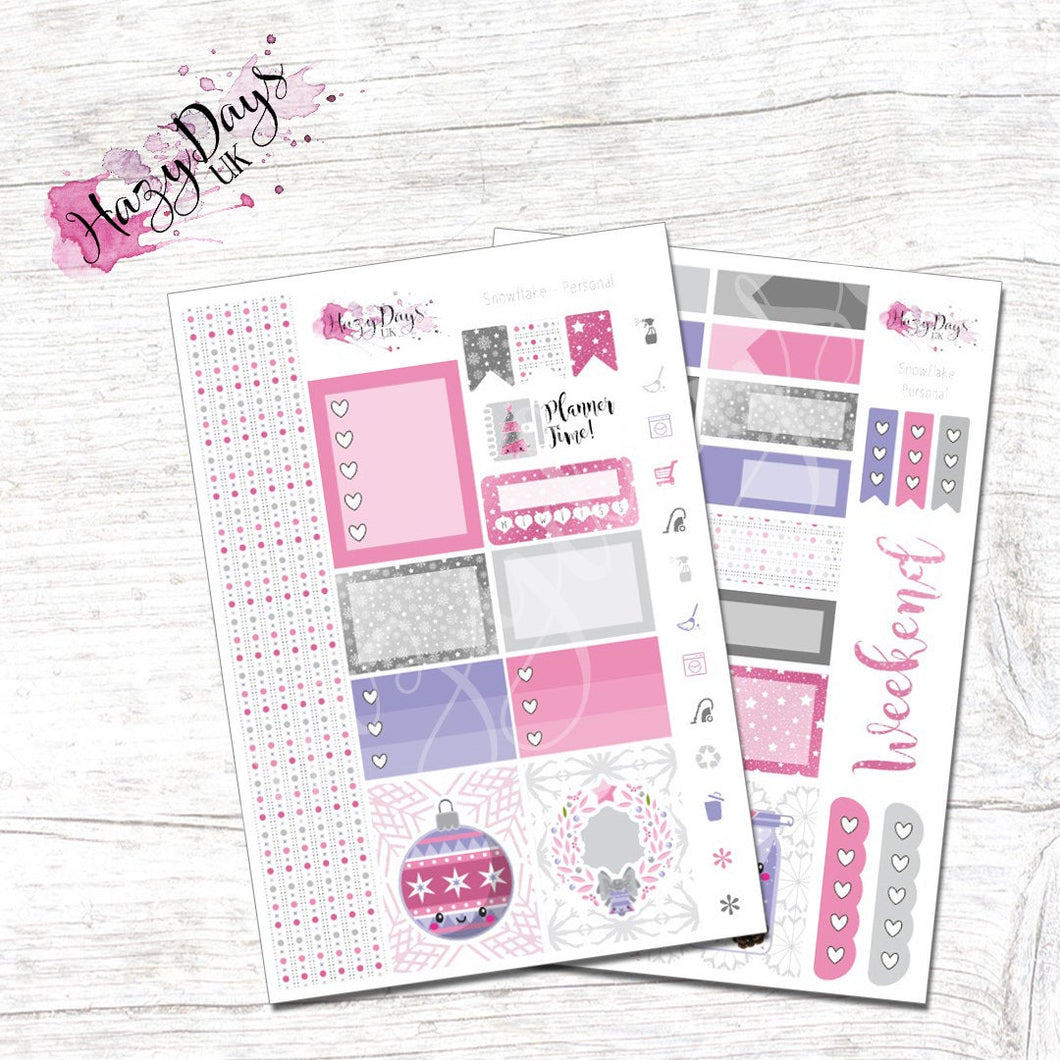 Christmas Snowflake - Personal Planner Sticker Kit
