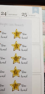 Weight Loss Reward Stickers - Stones