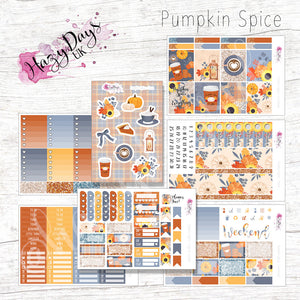 Pumpkin Spice - Weekly ECLP Sticker Kit