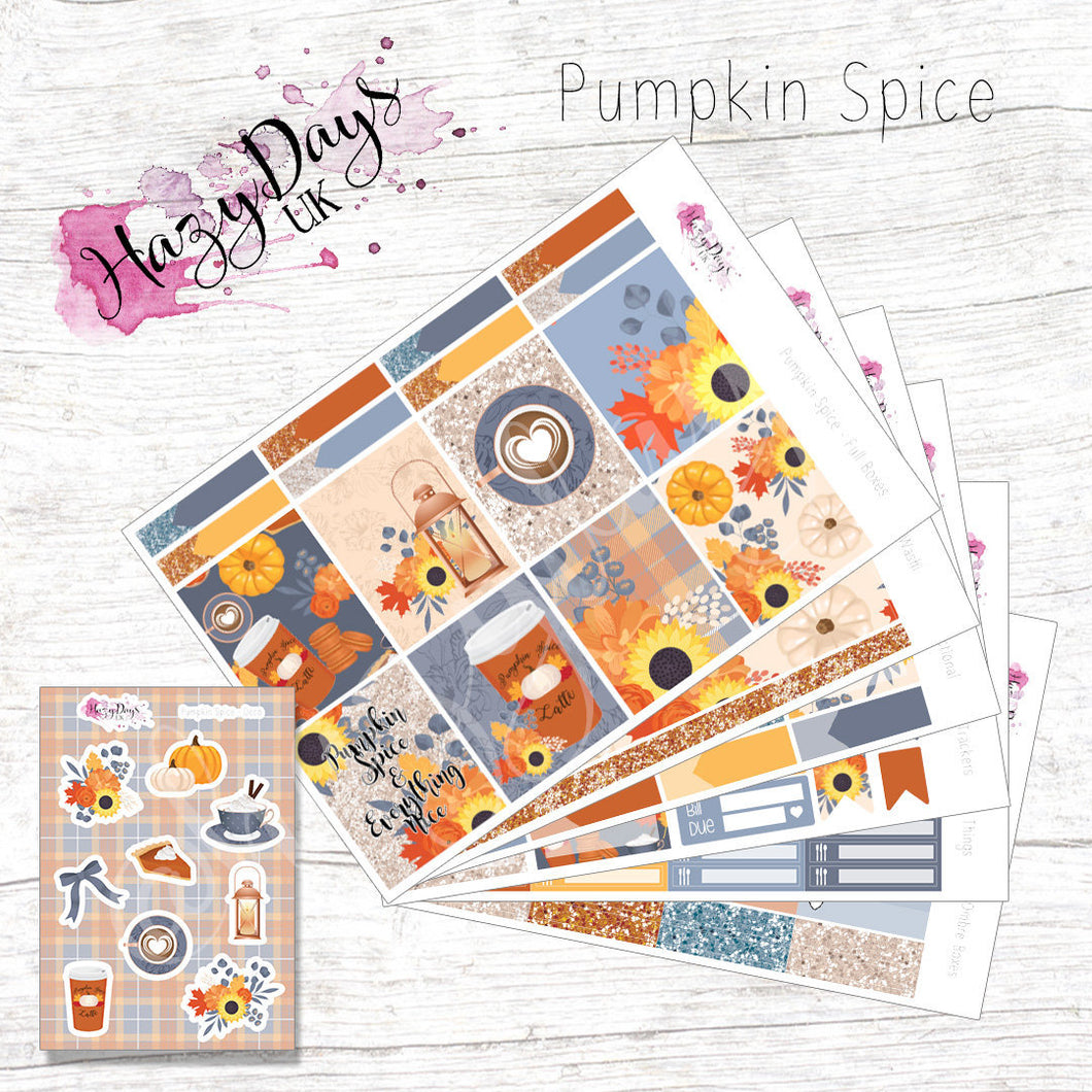 Pumpkin Spice - Weekly Sticker Kit