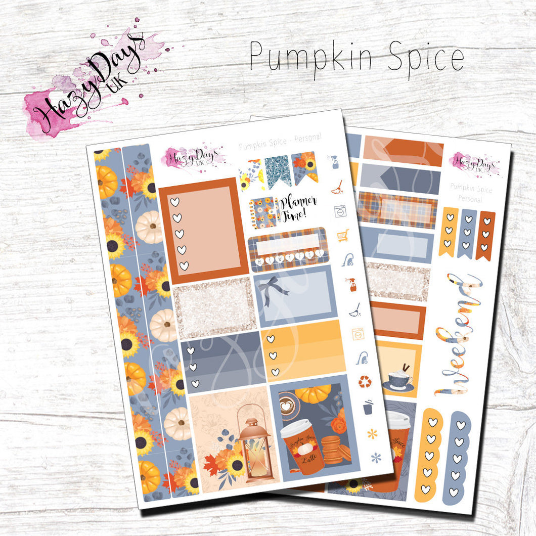 Pumpkin Spice - Personal Planner Sticker Kit