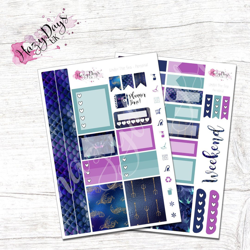 Under the Sea - Personal Planner Sticker Kit