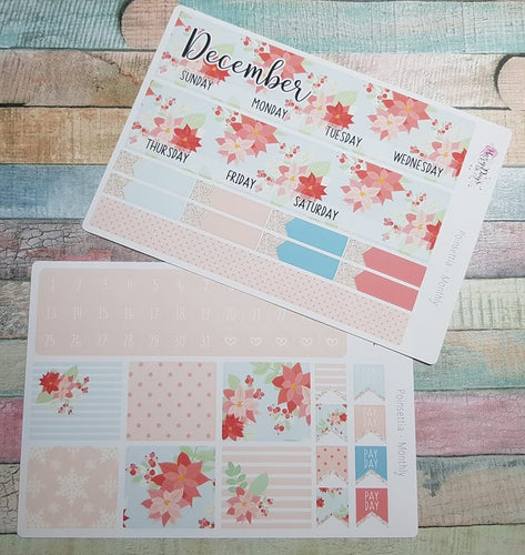 Christmas Poinsettia - Monthly Sticker Kit
