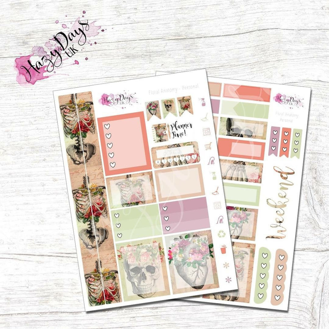 Floral Anatomy - Personal Planner Sticker Kit