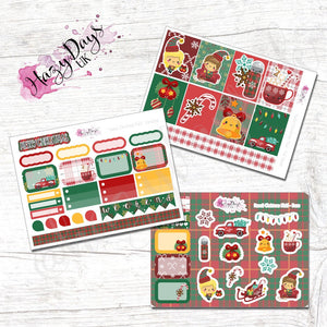 Kawaii Christmas in Plaid - Weekly Mini Kit