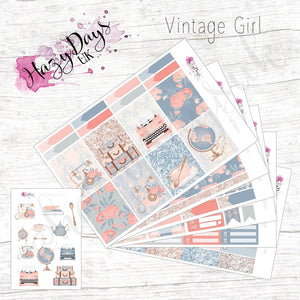 Vintage Girl - Weekly Sticker Kit
