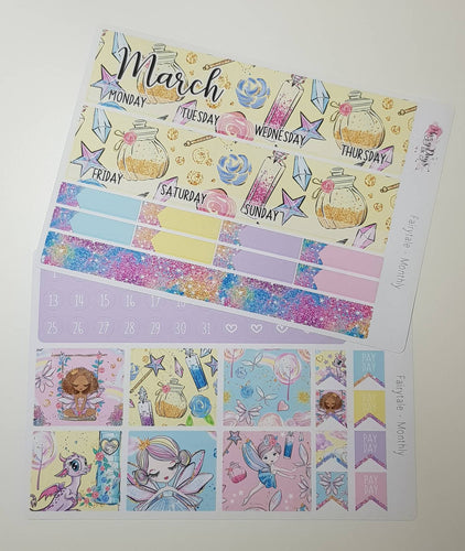 Fairytale - Monthly Planner Stickers