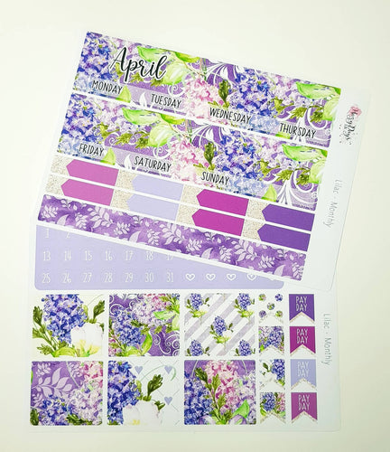 Lilacs - Monthly Sticker Kit