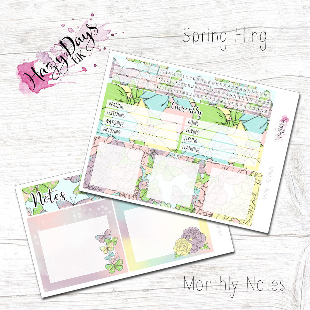Spring Fling - Monthly ECLP Notes Kit
