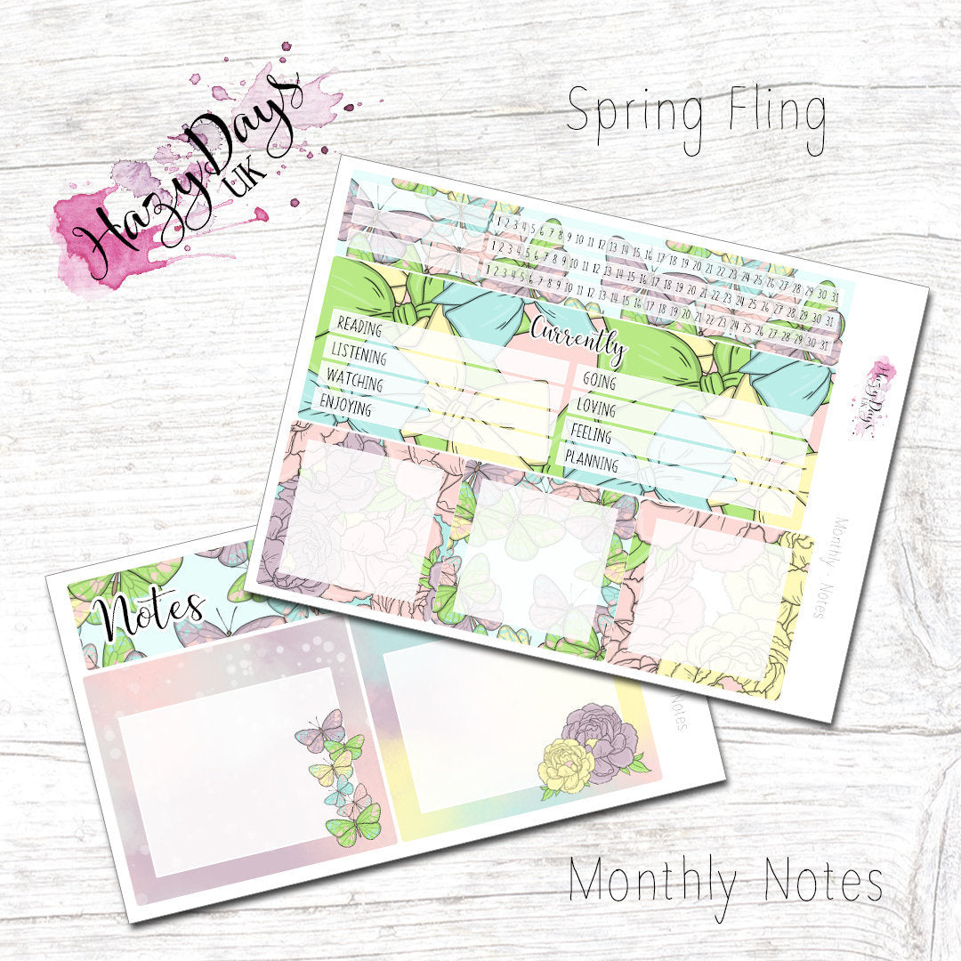 Spring Fling - Monthly Notes Kit