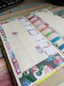 Floral Llama - Weekly Hobonichi Weeks Sticker Kit