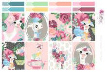 Load image into Gallery viewer, Floral Llamas - Weekly Sticker Kit