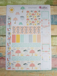 Spring Showers - Weekly Hobonichi Weeks Sticker Kit