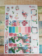 Load image into Gallery viewer, Floral Llama - Weekly Hobonichi Weeks Sticker Kit