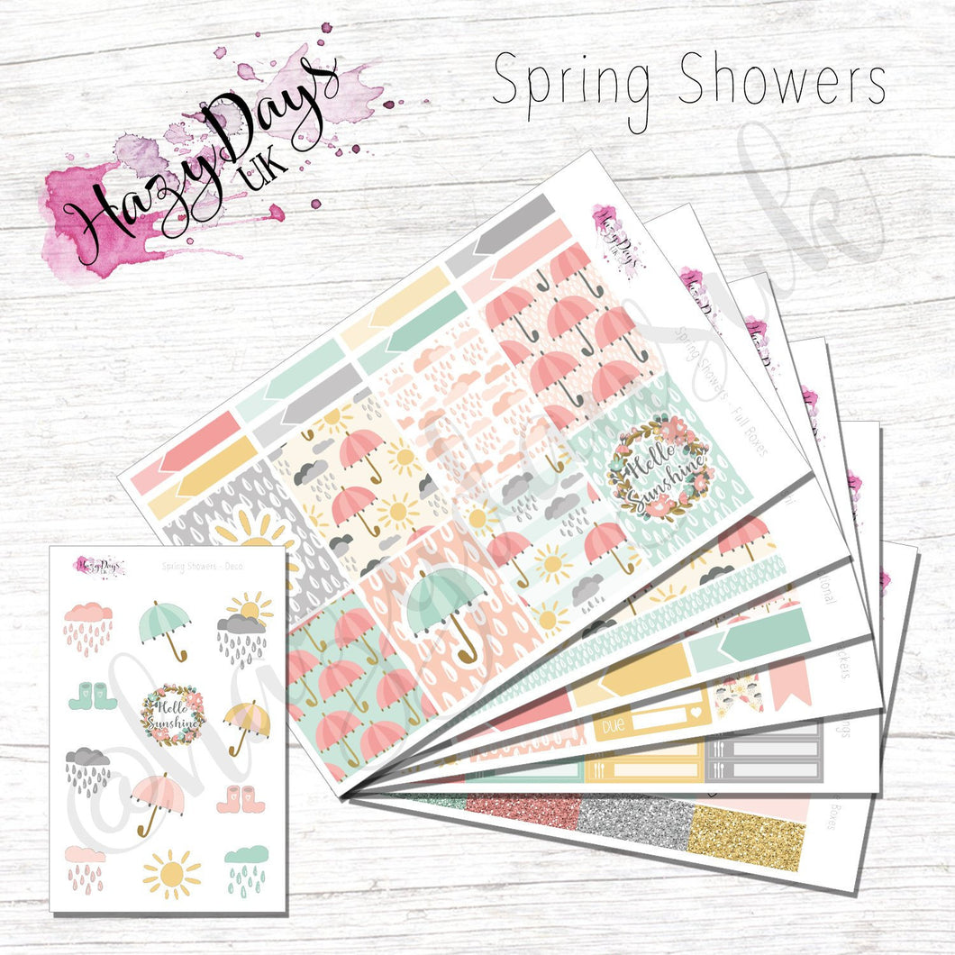 Spring Showers - Weekly ECLP Sticker Kit