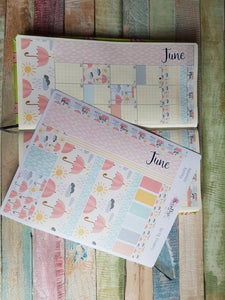 Spring Showers - Monthly Hobonichi Weeks Sticker Kit