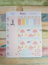 Load image into Gallery viewer, Spring Showers - Monthly Hobonichi Weeks Sticker Kit