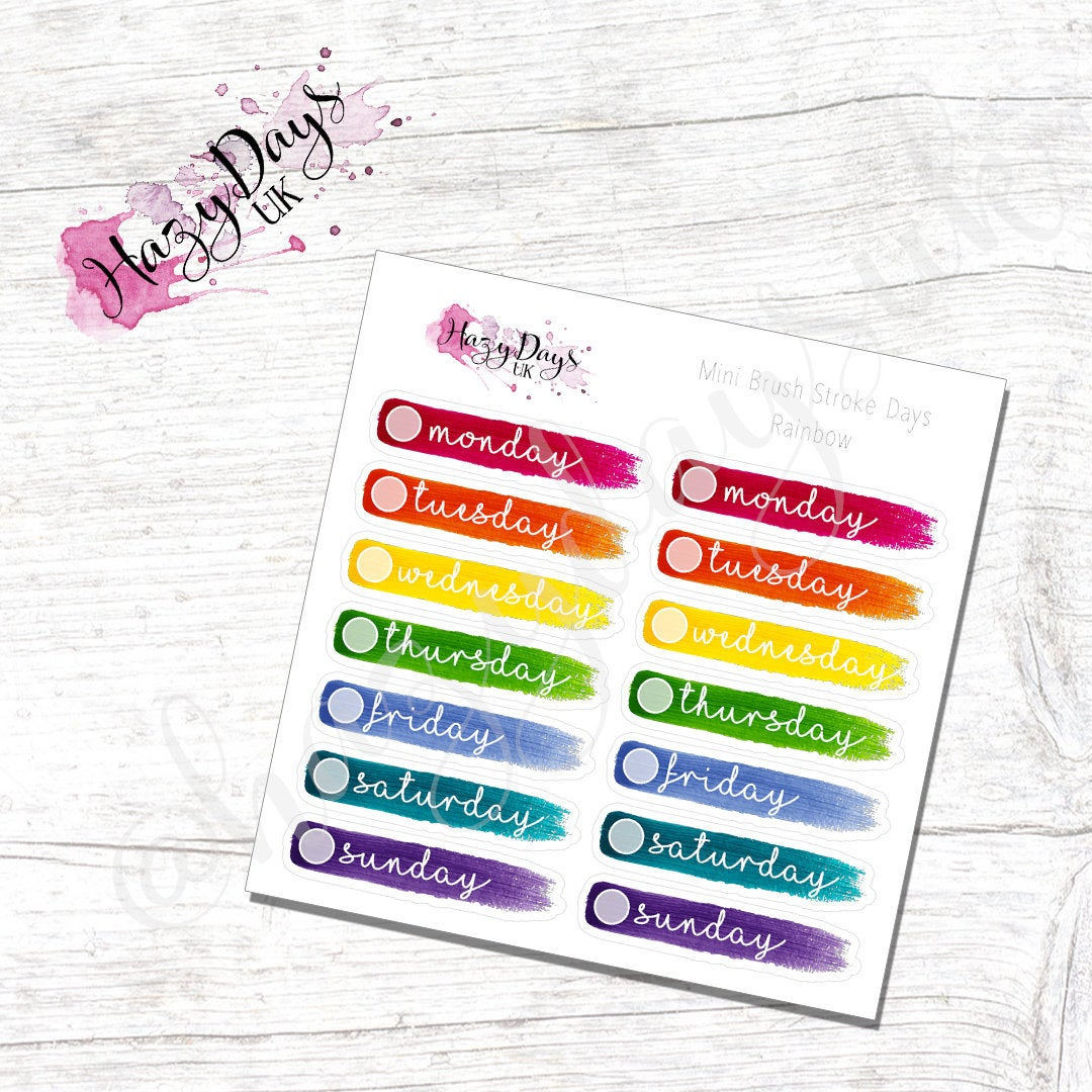 Rainbow - Painted Brush Stroke Date Covers