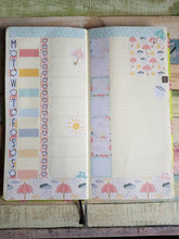 Load image into Gallery viewer, Spring Showers - Weekly Hobonichi Weeks Sticker Kit