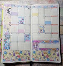Load image into Gallery viewer, Floral Llamas - Monthly Hobonichi Weeks Sticker Kit