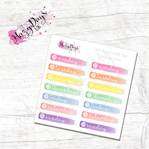 Rainbow - Pastel Painted Brush Stroke Date Covers
