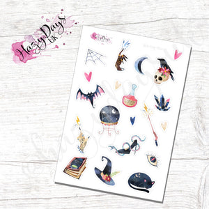 Witching Hour, Watercolour Stickers