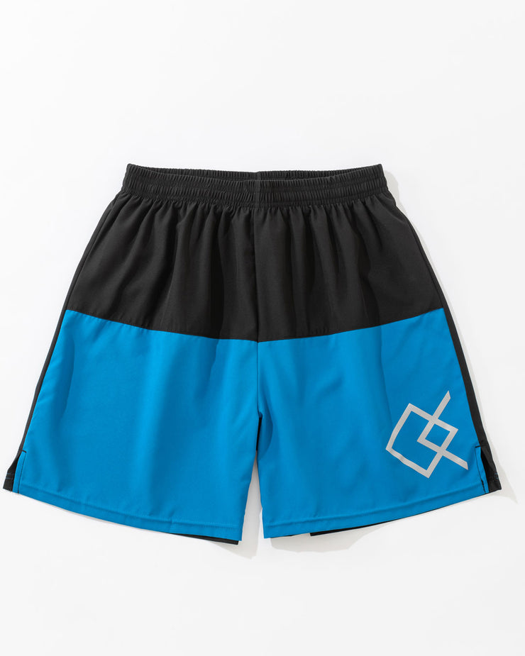 QC Color Block Shorts - Blue