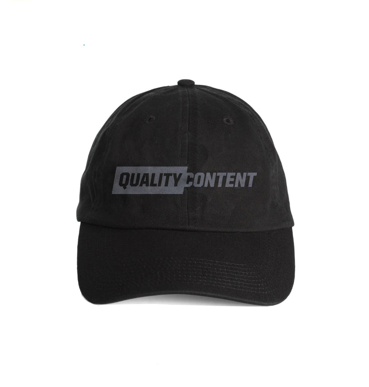Quality Content Charcoal Dad Cap