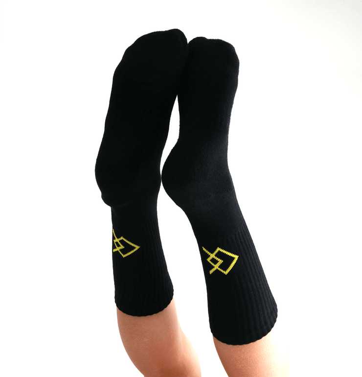 QC Black Socks