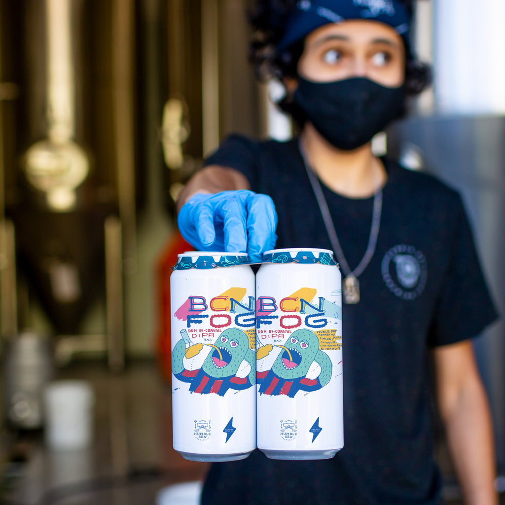 BCN Fog Collab with Garage Beer Co. - DDH Bi-Coastal DIPA (4-pack of 16 oz cans)