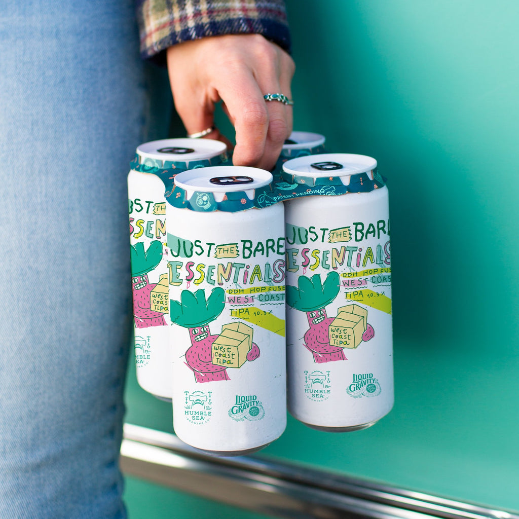 Just the Bare Essentials: Collab with Liquid Gravity - DDH Hop-Fused West Coast TIPA (4-pack of 16 oz cans)